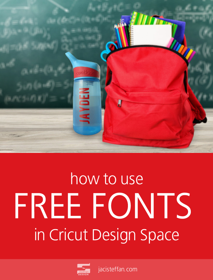 How to use FREE fonts in Cricut Design Space - Steffan Design Portfolio