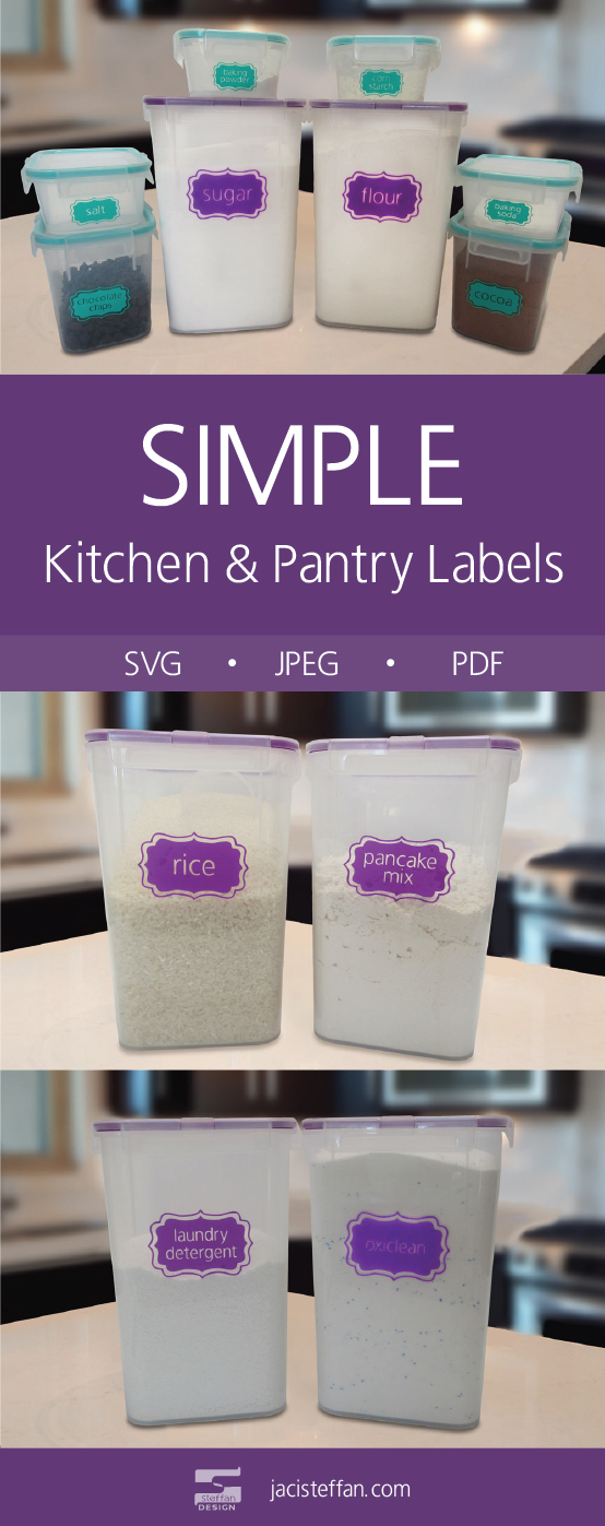 Kitchen and Pantry Labels